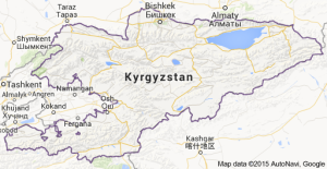 A map of Kyrgyzstan (from Google)