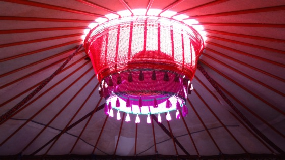 Decoration around the crown of a yurt.