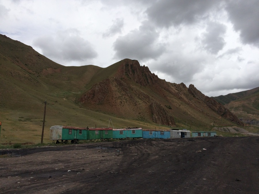 "The coal mining ""village"" of Karakeche on the road to Song-Kul"