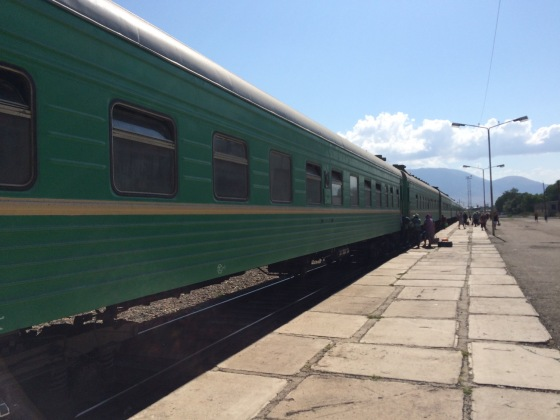 The train waits to take us back to Bishkek