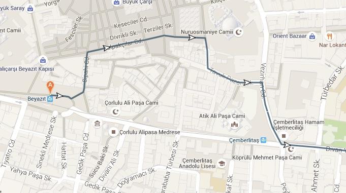grand bazaar walk route