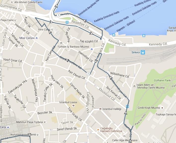 spice bazaar walk route