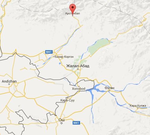 Arslanbob Map